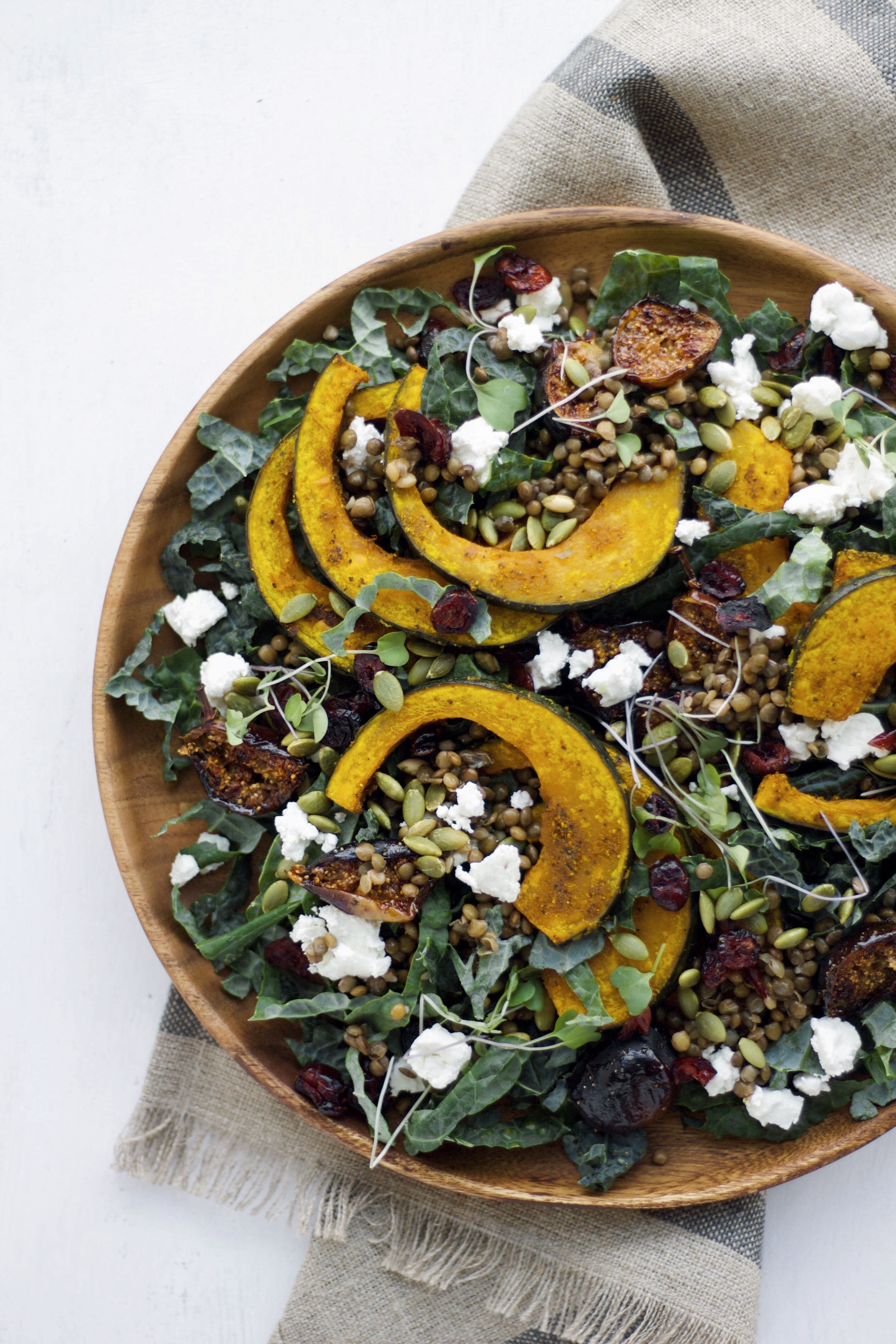The perfect Thanksgiving side dish - a Turmeric Roasted Kabocha Squash salad | This Brown Kitchen
