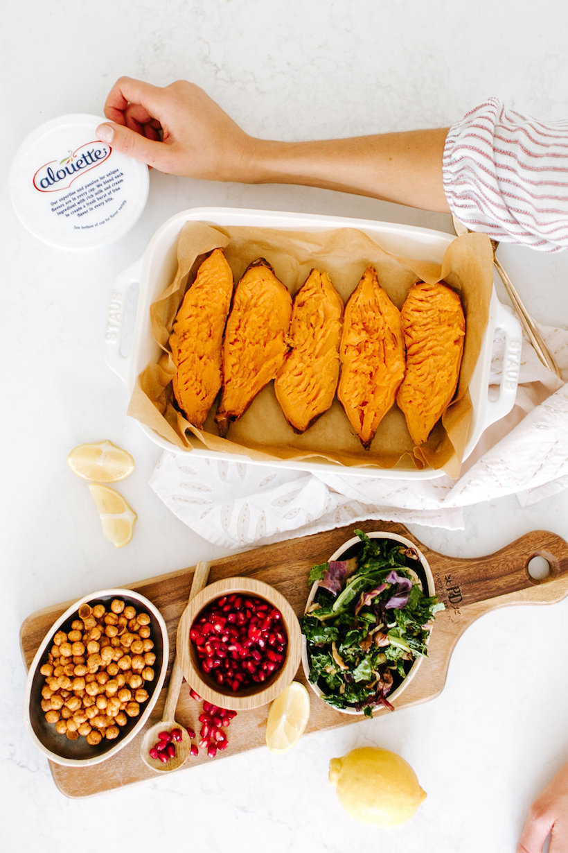 these Autumn Stuffed Sweet Potatoes are my favorite vegetarian weeknight meal!