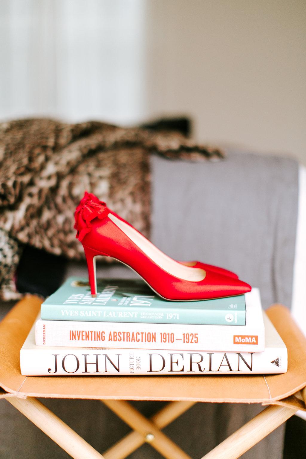 J. Crew red heels