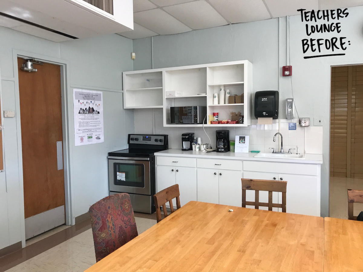 teachers lounge before