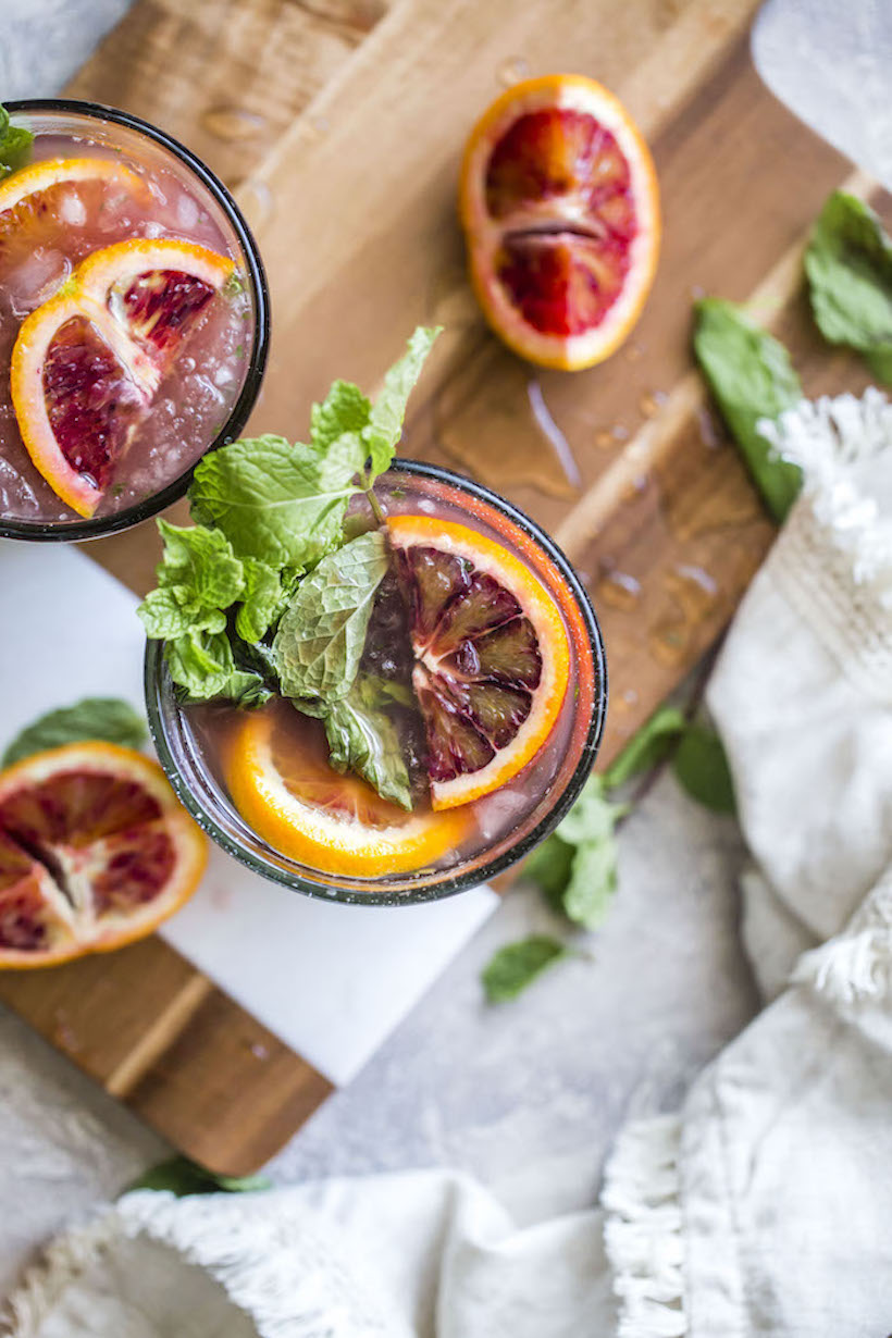 blood orange champagne mojito