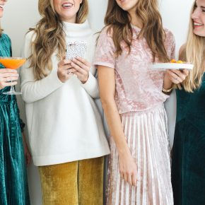 velvet dresses, pants, and skirts for the holidays!