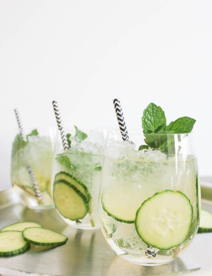 cucumber mint sparkler