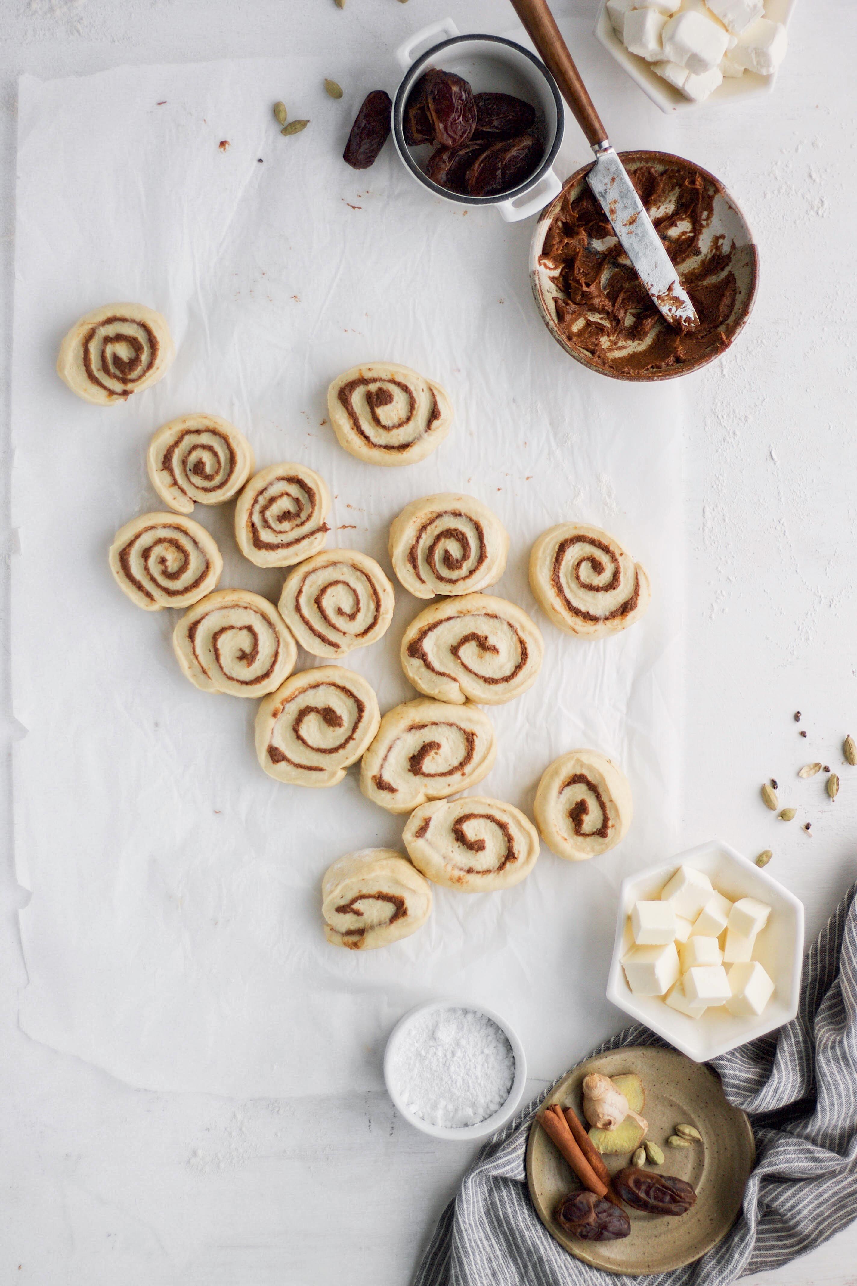Spiced Orange Date-Paste Cinnamon Rolls | This Brown Kitchen