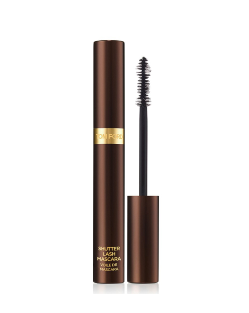 Shutter Lash Mascara by Tom Ford A serious mascara for a serious lash lover, this mascara features a dual-fiber brush for serious volume and lushness—plus, a smudge- and flake-proof formula.