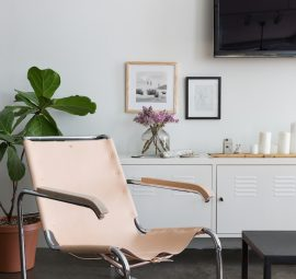 a leather chair makeover