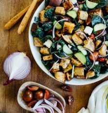 panzanella recipe using homemade sourdough bread