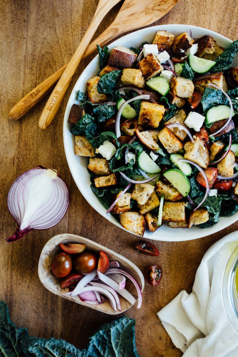 This Kale Sourdough Panzanella Will Be Your New Favorite Salad