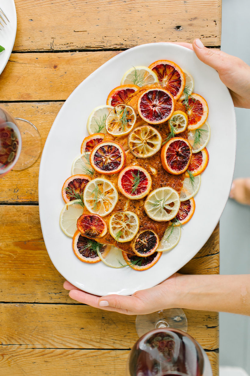 Recipe for Roasted Wild Salmon with Citrus, Chiles & Herbs