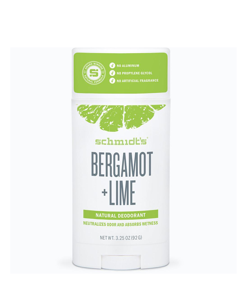 """Schmidt's Stick Bergamot & Lime Deodorant """"I took a chance on this deodorant after searching for a natural one that was effective and that I didn't have to reapply during the day, especially because I was pregnant and then nursing (which, by the way, apparently causes body odor). I love that this one is totally natural, non-drying, non-greasy, and smells fresh."""" Liz Teich,Fashion stylist and blogger at The Brooklyn Stylist"""