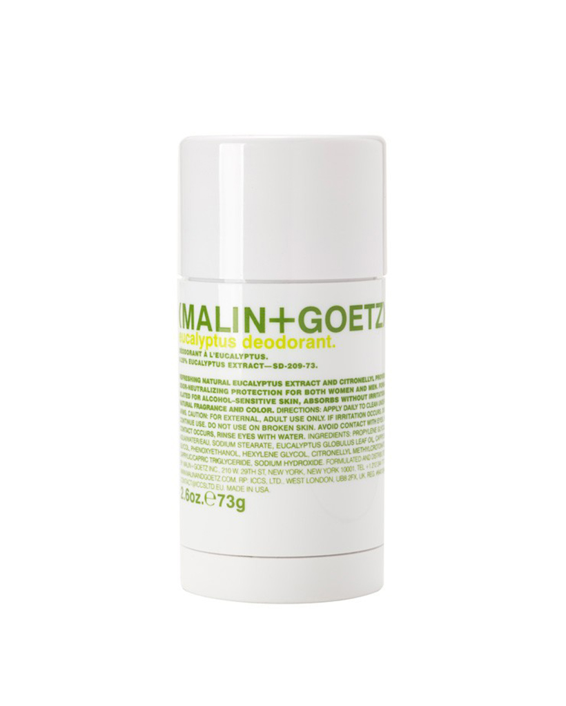 """Malin + Goetz Eucalyptus Deodorant """"I started using this at the tail end of the summer after my boyfriend found it in our medicine cabinet, unopened. He liked it so much that he threw out his old deodorant and promptly made me switch, too. I love the fresh scent—and the fact that none of my T-shirts are stained yellow anymore."""" Lauren Caruso, Editorial Director at Bandier"""
