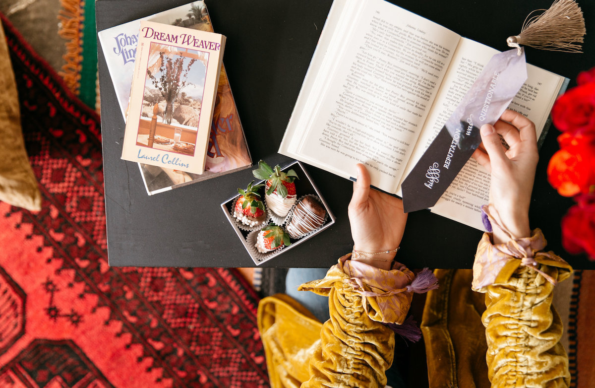 a romance novel book swap party