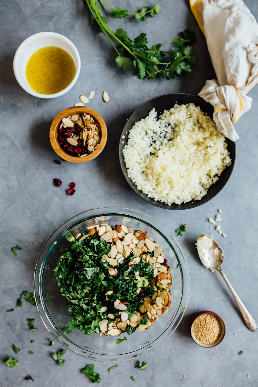 gluten free cauliflower tabbouleh