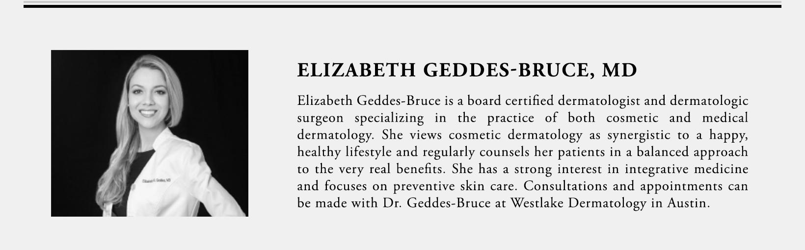 Dr. Elizabeth Geddes-Bruce