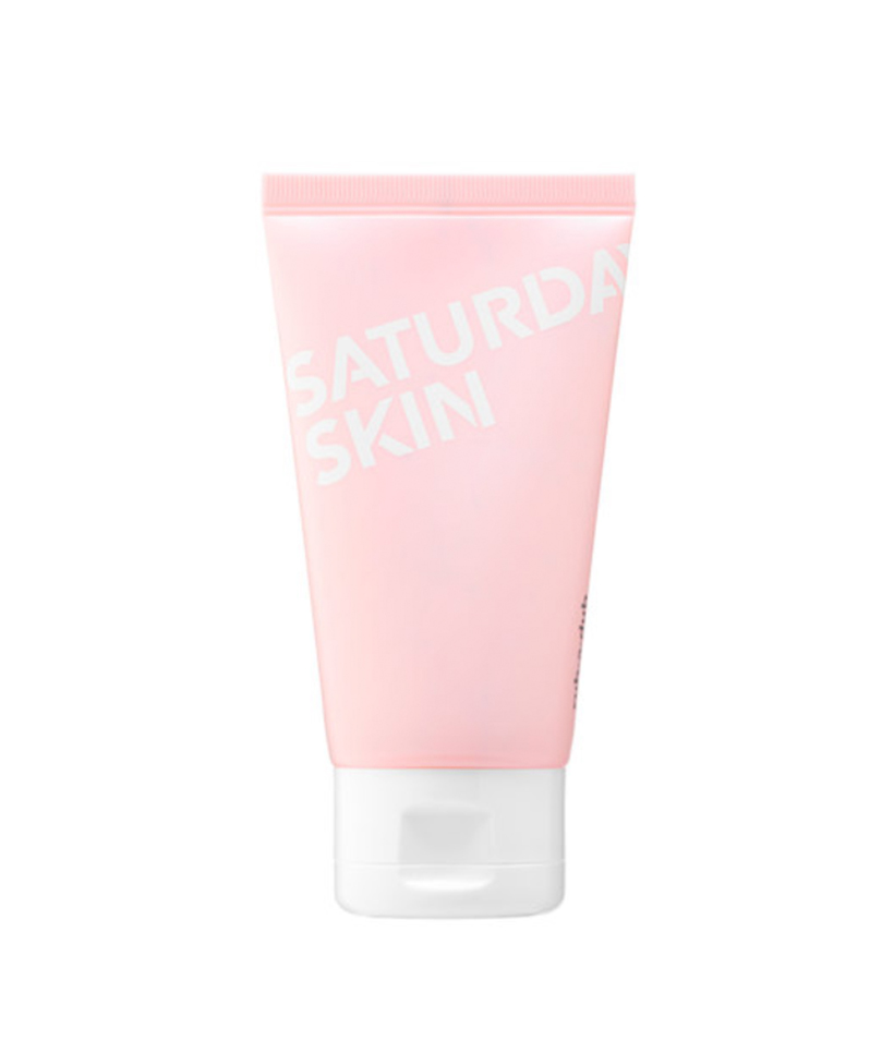 Combination: Rub-A-Dub Refining Peel Gel by Saturday Skin If your skin is finicky and can't decide if it's dry or oily, this gentle peel will address any and all of your skin woes. Simply apply to clean skin, rub on for one minute, and then rinse with warm water—the natural enzymes work to sweep away dead skin cells and impurities.