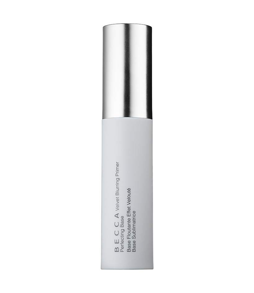 Smoothing Velvet Blurring Primer Perfection by Becca Infused with vitamins C and E, this good-for-you primer has a slight apricot tint to even skin tone and smooth pores and imperfections for a completely flawless canvas.