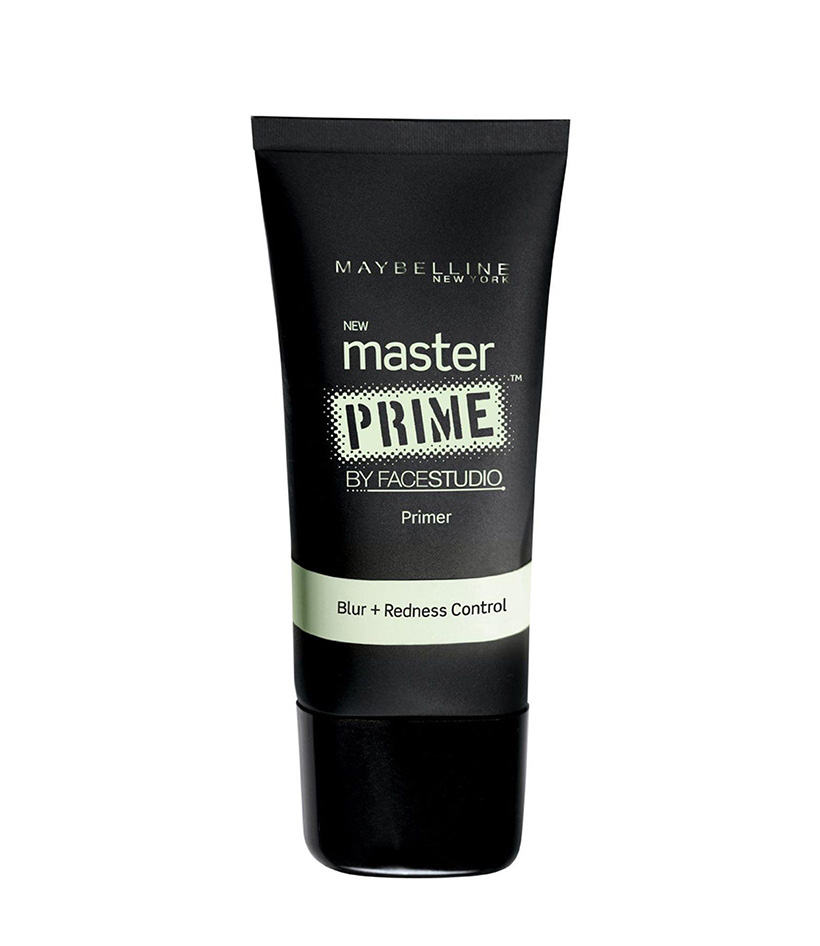 Anti-Redness Mastery Prime by FaceStudio  If you suffer from redness from rosacea, acne, or just general irritation, a green-hued primer like this pick from Maybelline is a great way to correct your skin tone before your makeup (without simply piling on more foundation and causing a cakey effect.