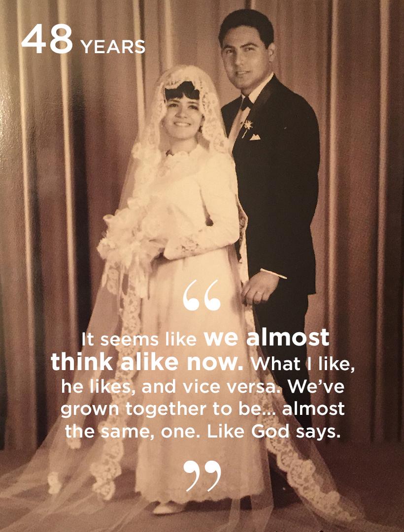 Selia Salgado, married 48 years and counting.