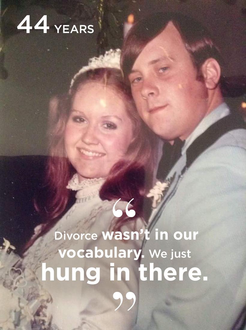 Barbara Jones of Longview, married 44 years and counting.