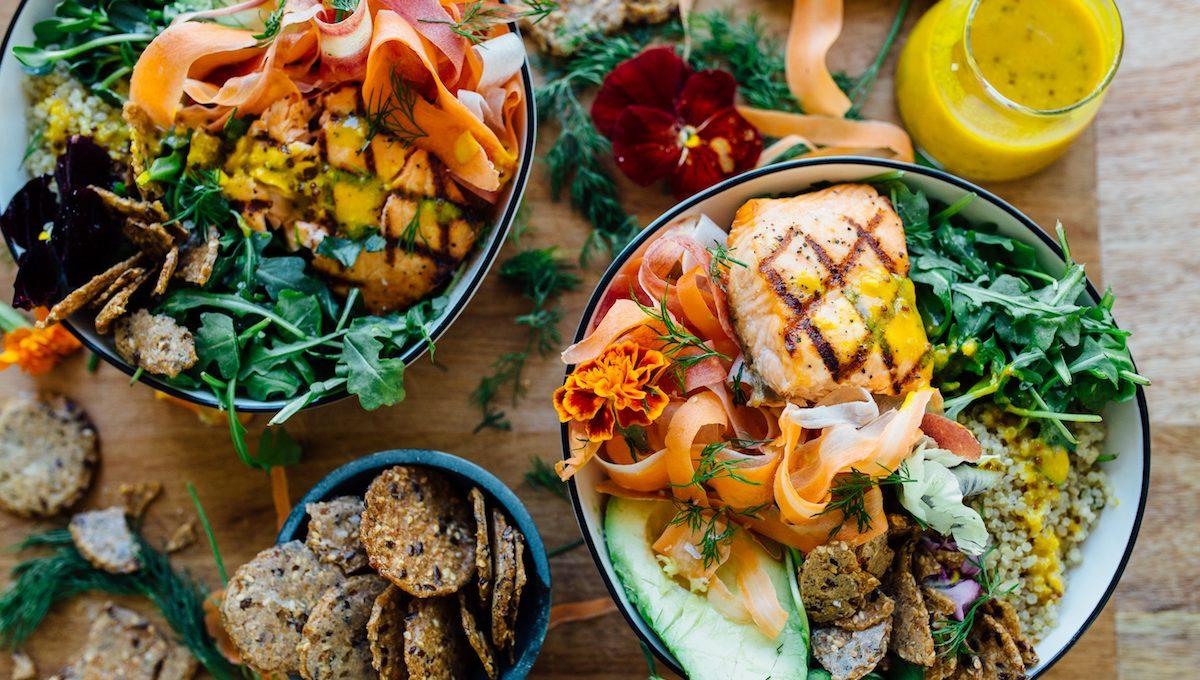 Spring Salmon & Veggie Grain Bowl