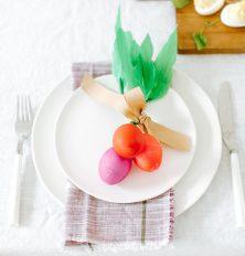 diy easter egg radishes