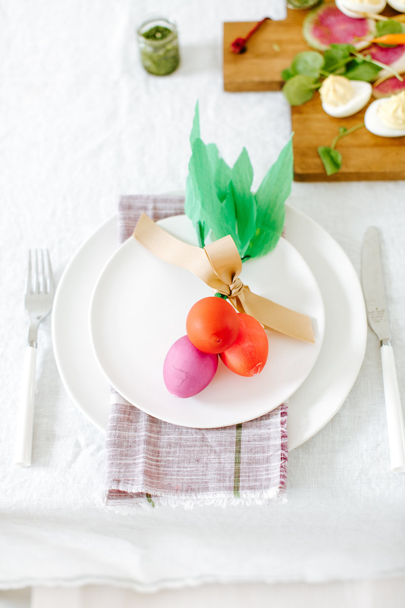 diy easter egg radishes