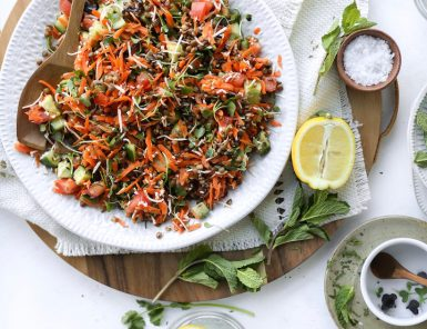 A spring lentil salad | This Brown Kitchen