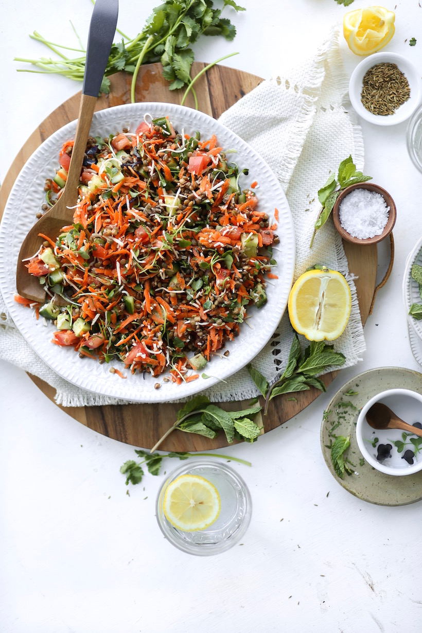 A spring lentil salad | This Brown Kitchen