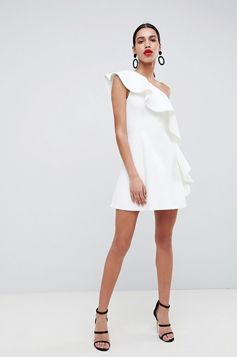 Ruffle A-Line Mini Dress from Asos