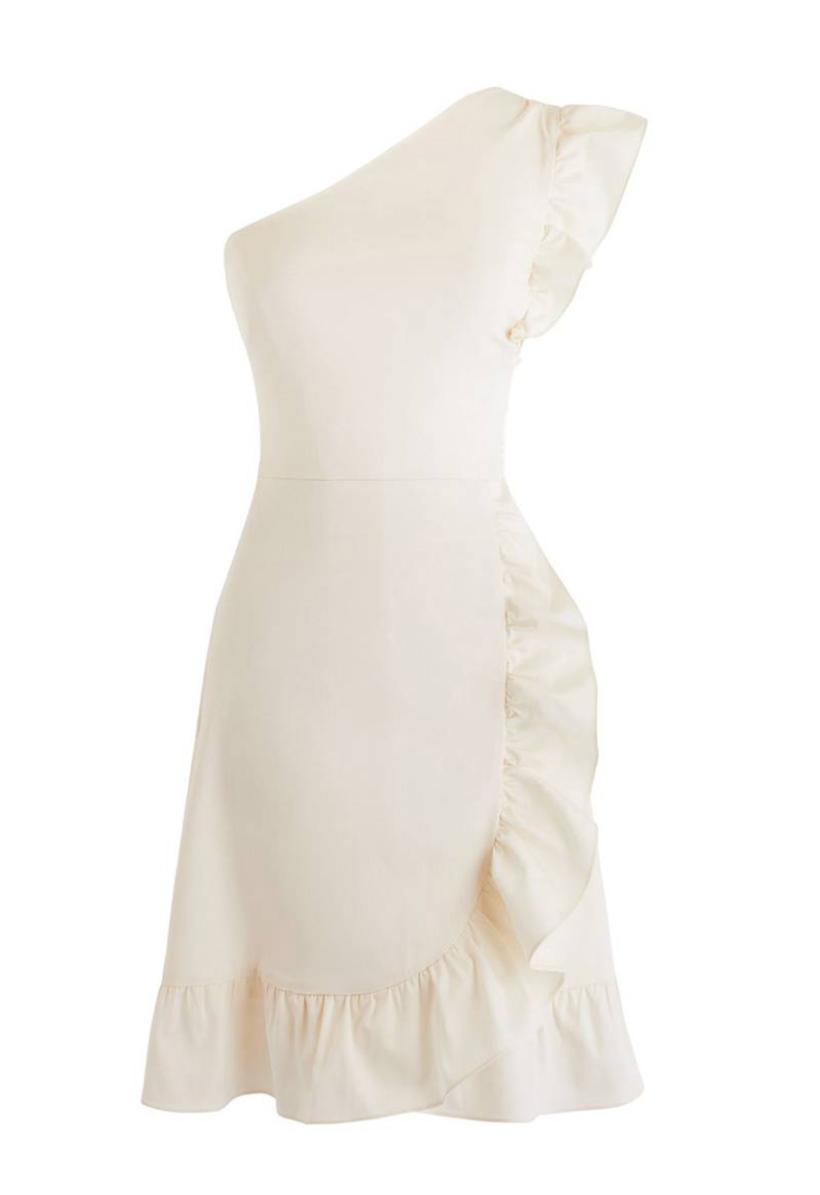 J.Crew Yass One-Shoulder Ruffle Dress