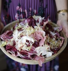 Chicory Salad with Hazelnuts and Meyer Lemon, Parmesan Vinaigrette
