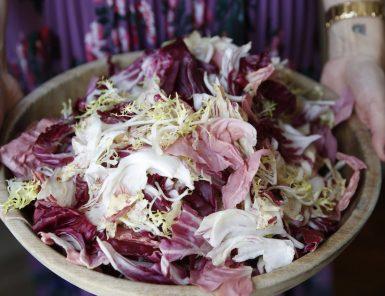 Chicory Salad with Hazelnuts and Meyer Lemon, Parmesan Vinaigrette