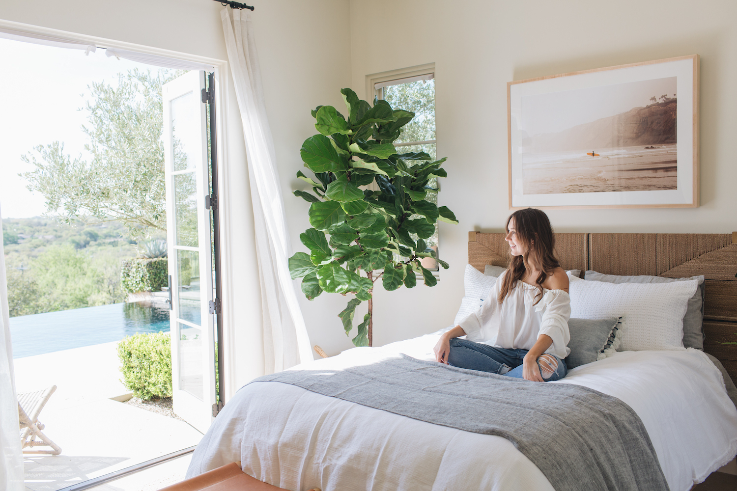 camille s beach inspired guest room reveal camille styles