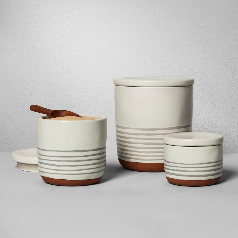 stoneware kitchen canisters