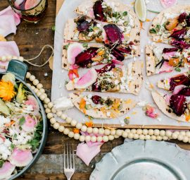 A Healthier Cinco de Mayo Menu: Roasted Beet Tostadas with Avocado Crema