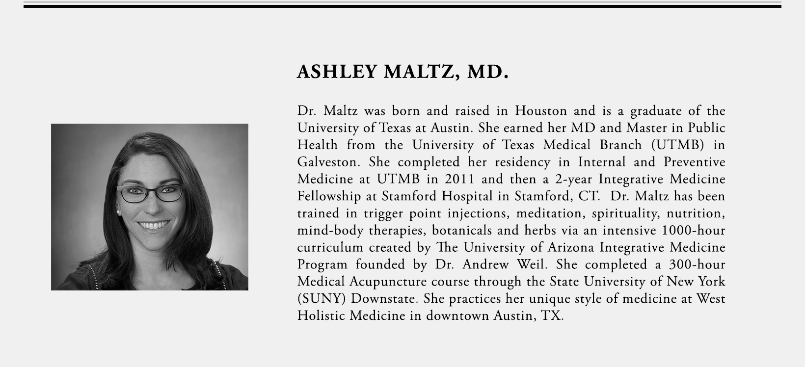 Ashley Maltz, MD.