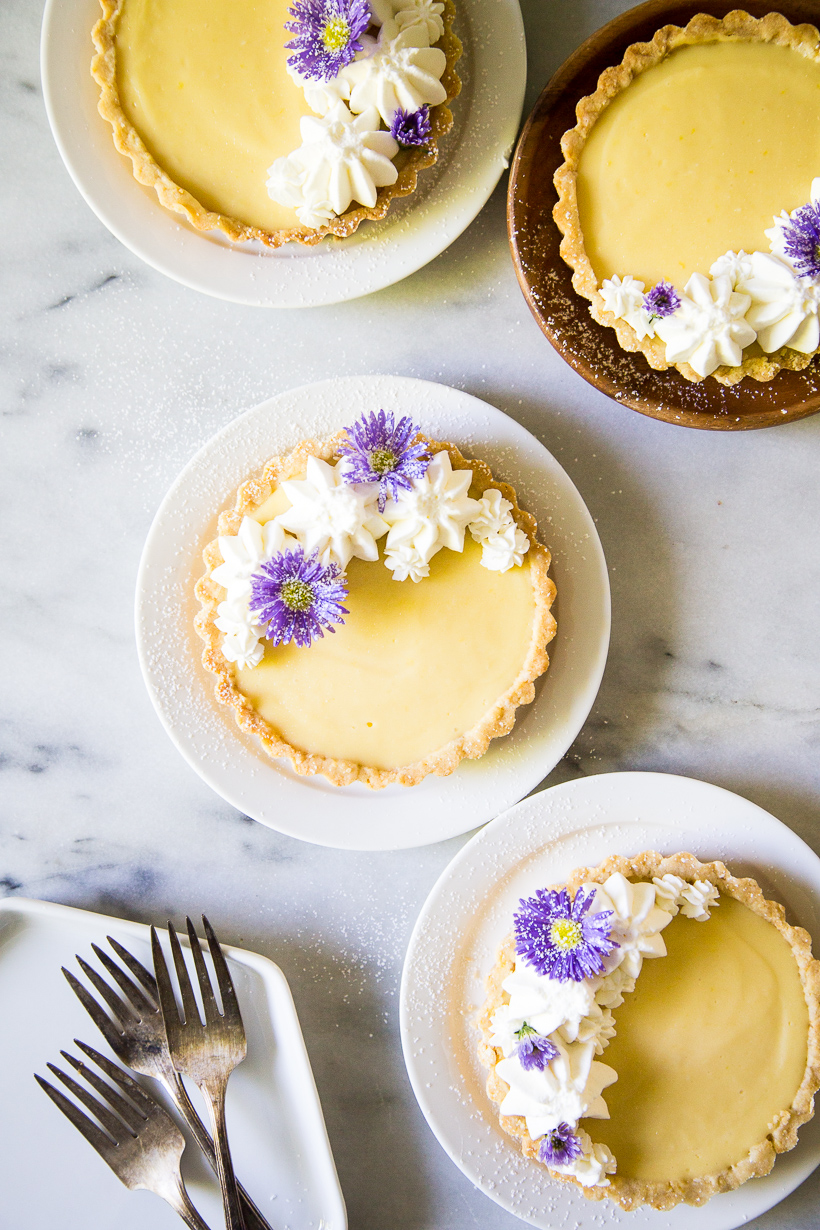 Recipe for Lemon Tarts with Orange Blossom Whipped Cream