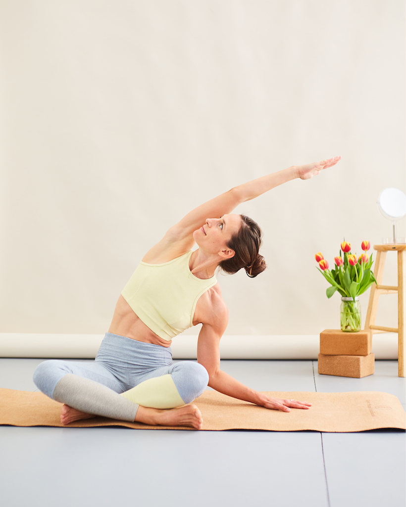 yoga side stretch for breathing easier