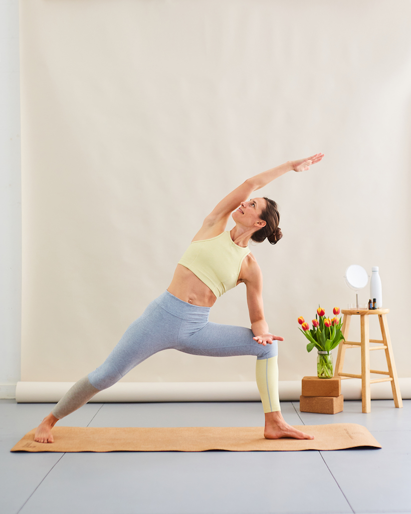 yoga side angle for breathing easier