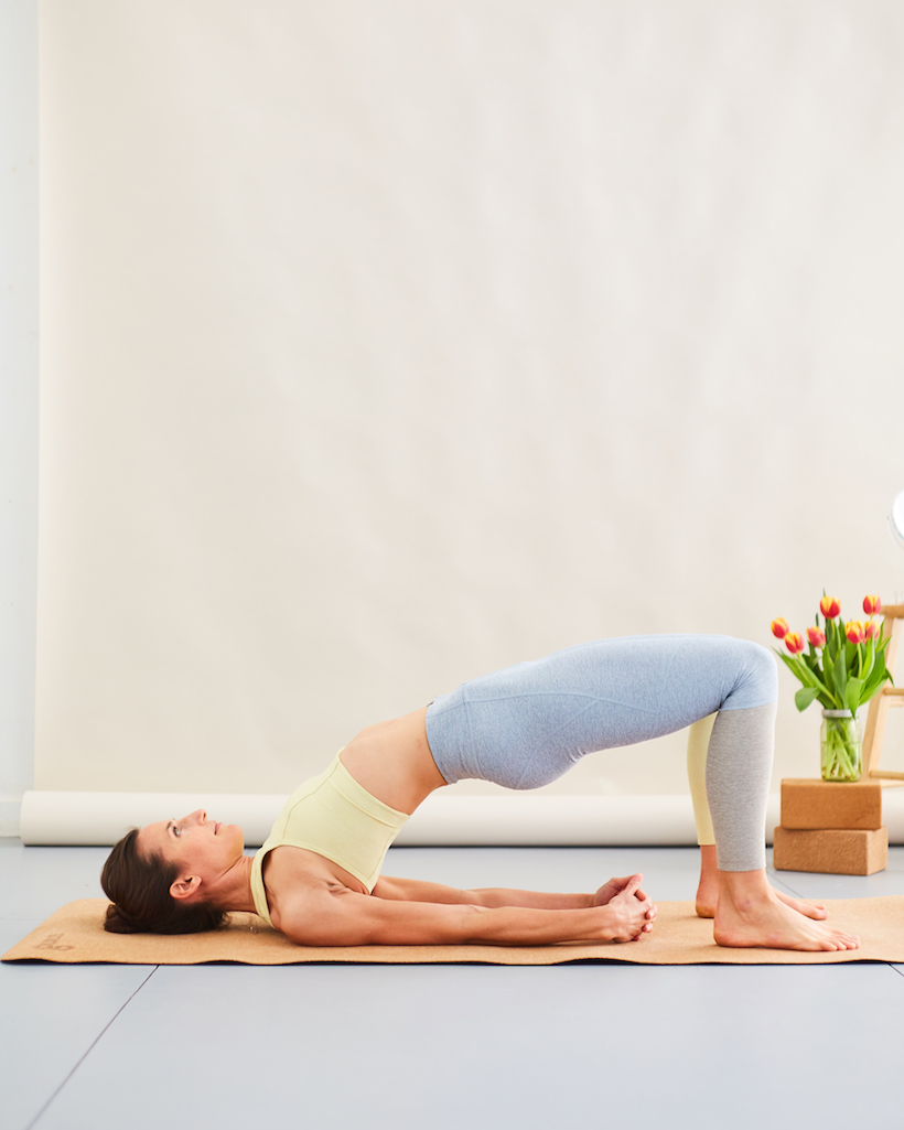 bridge pose for breathing easier