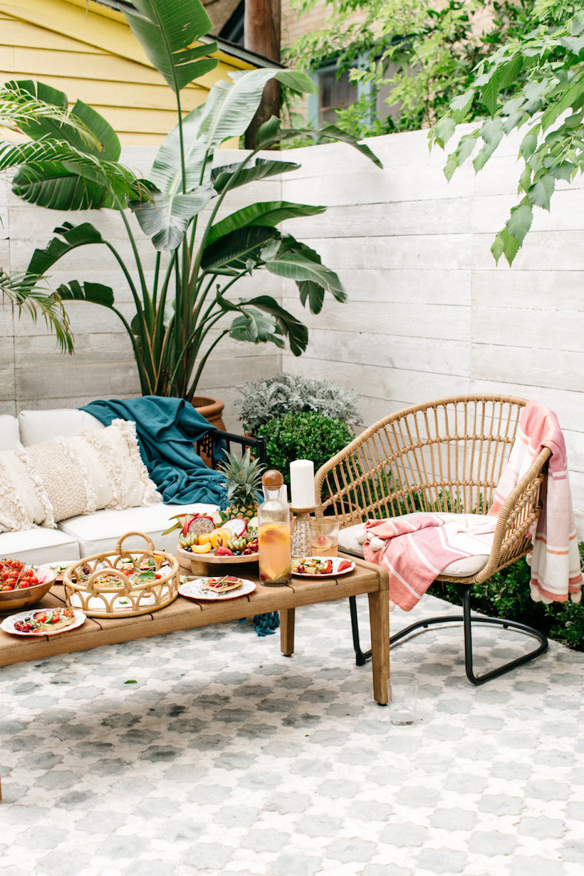 How We Decorated Our New Patio Using All Pieces From Target