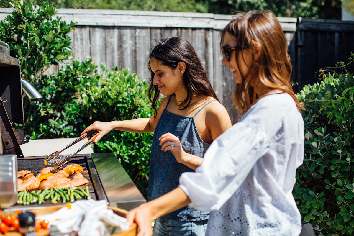 It's a summertime grilling party