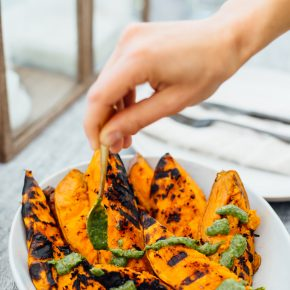 These grilled sweet potato wedge are my favorite summer side dish
