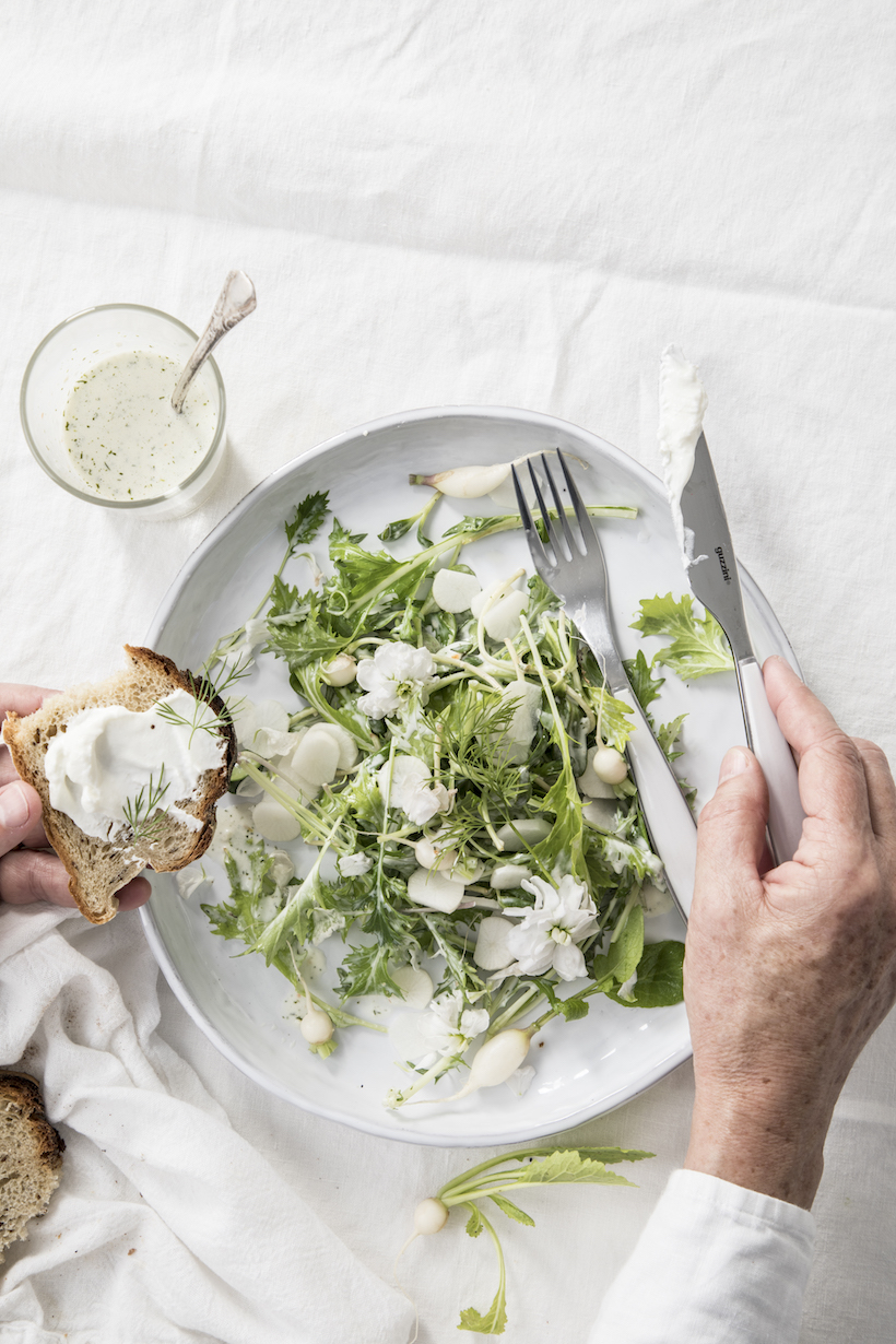 Recipe for a White Salad by Libbie Summers
