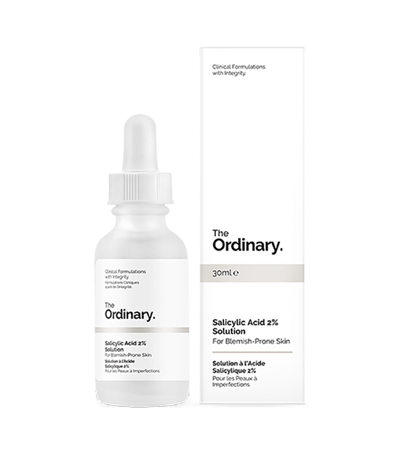 The Ordinary Salicyclic Acid 2% This solution is potent yet alcohol-free, so it makes a big difference in skin clarity without drying it out. Use as needed as a spot treatment, or apply all over to keep breakouts at bay.