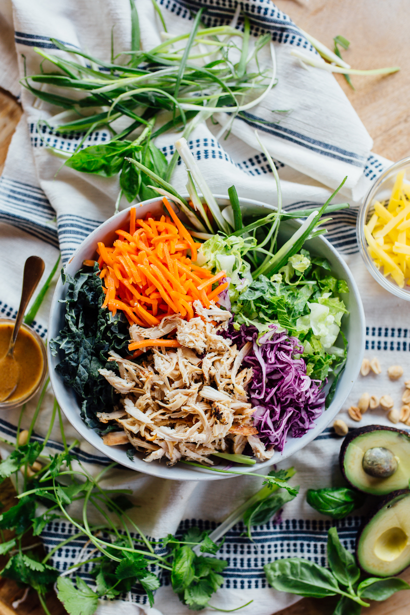 This Thai Chicken Salad is the perfect healthy, one-bowl dinner