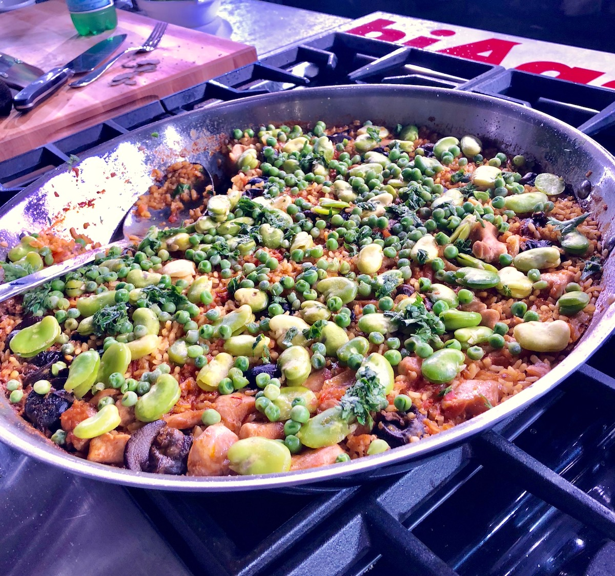 Chef Andrew Zimmern's Paella at Aspen Food and Wine Classic