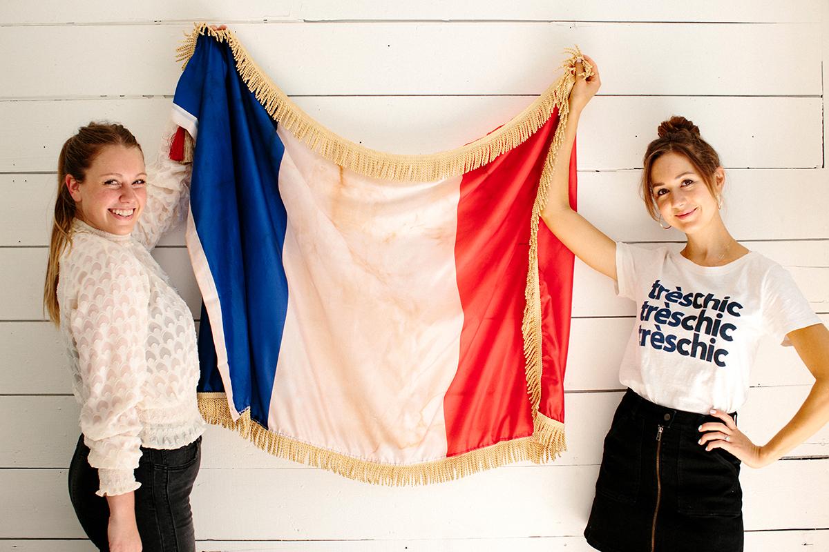 vintage french flag