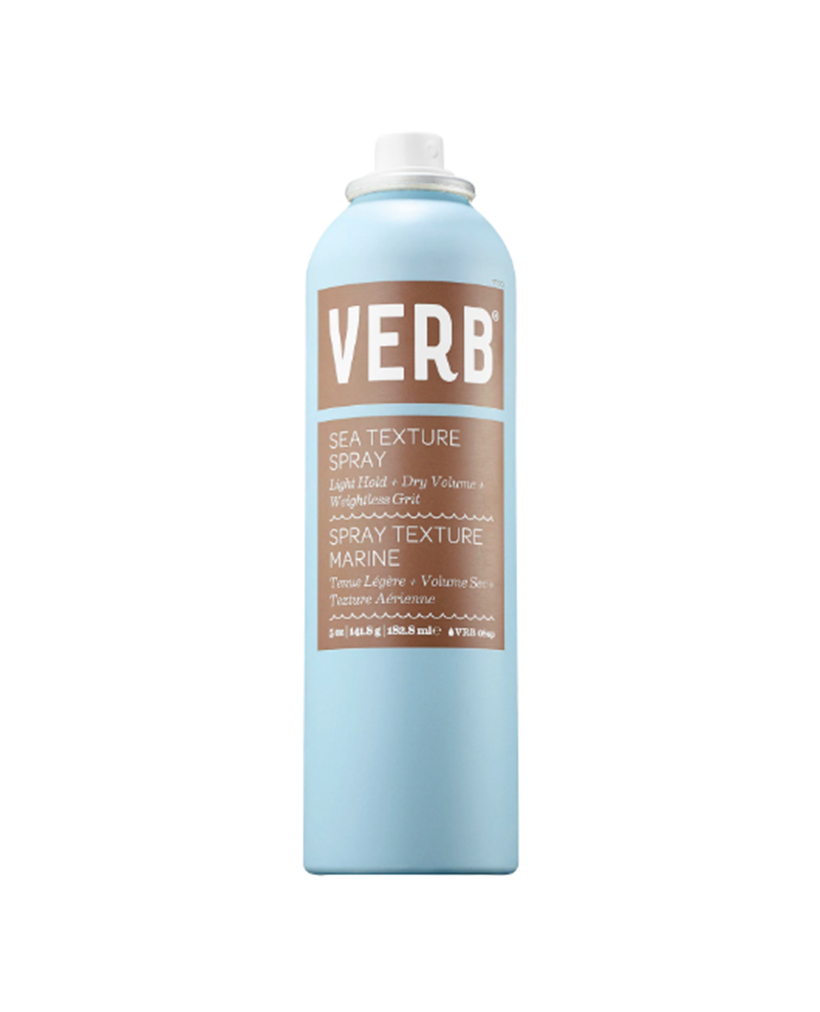 Verb Sea Texture Spray Some sea salt sprays can be overly gritty and drying; other formulas can seem to disappear into your hair without doing anything. This spray by Verb is the perfect middle ground: it adds oomph to waves without weighing them down, leaving your locks flexible and touchable.
