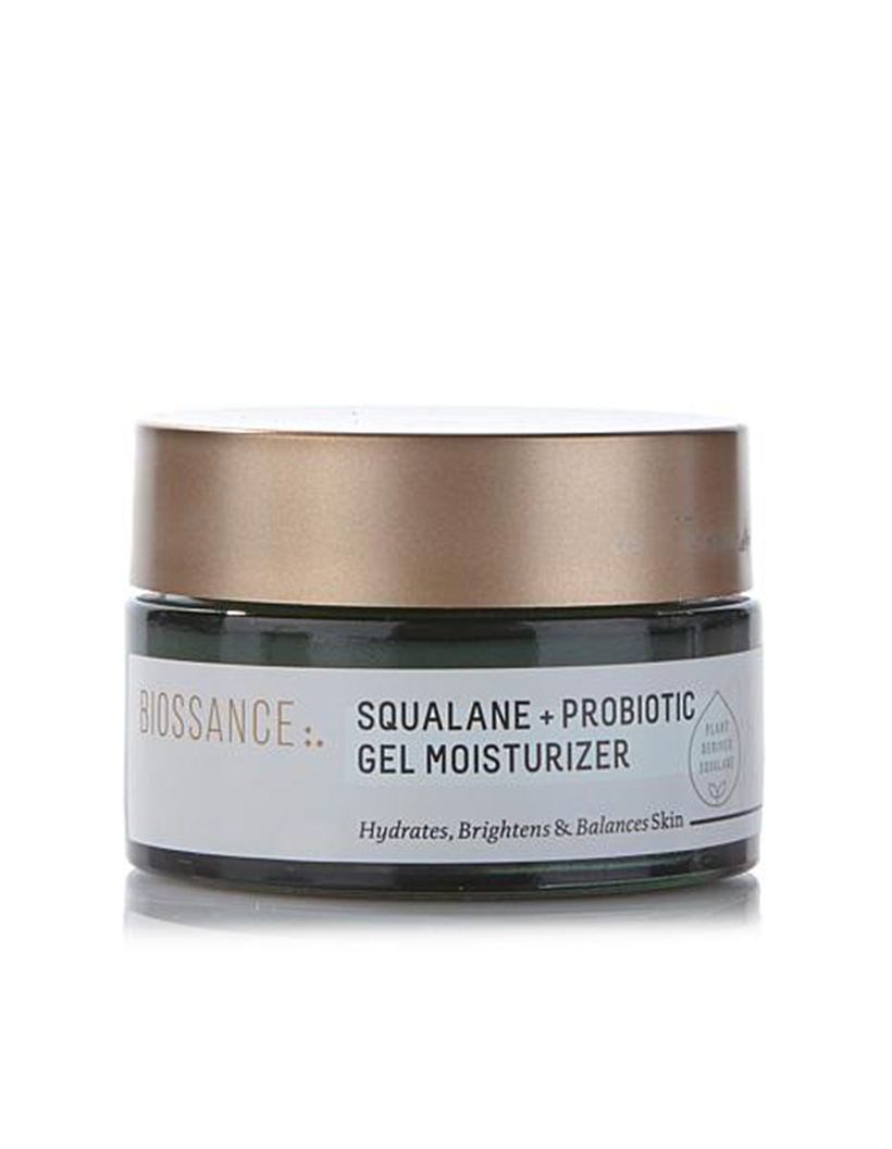 Squalane + Probiotic Gel Moisturizer by Biossance I've found your perfect summer moisturizer: with its light gel texture, this formula can be used morning or evening for a light—but intense—boost of hydration.